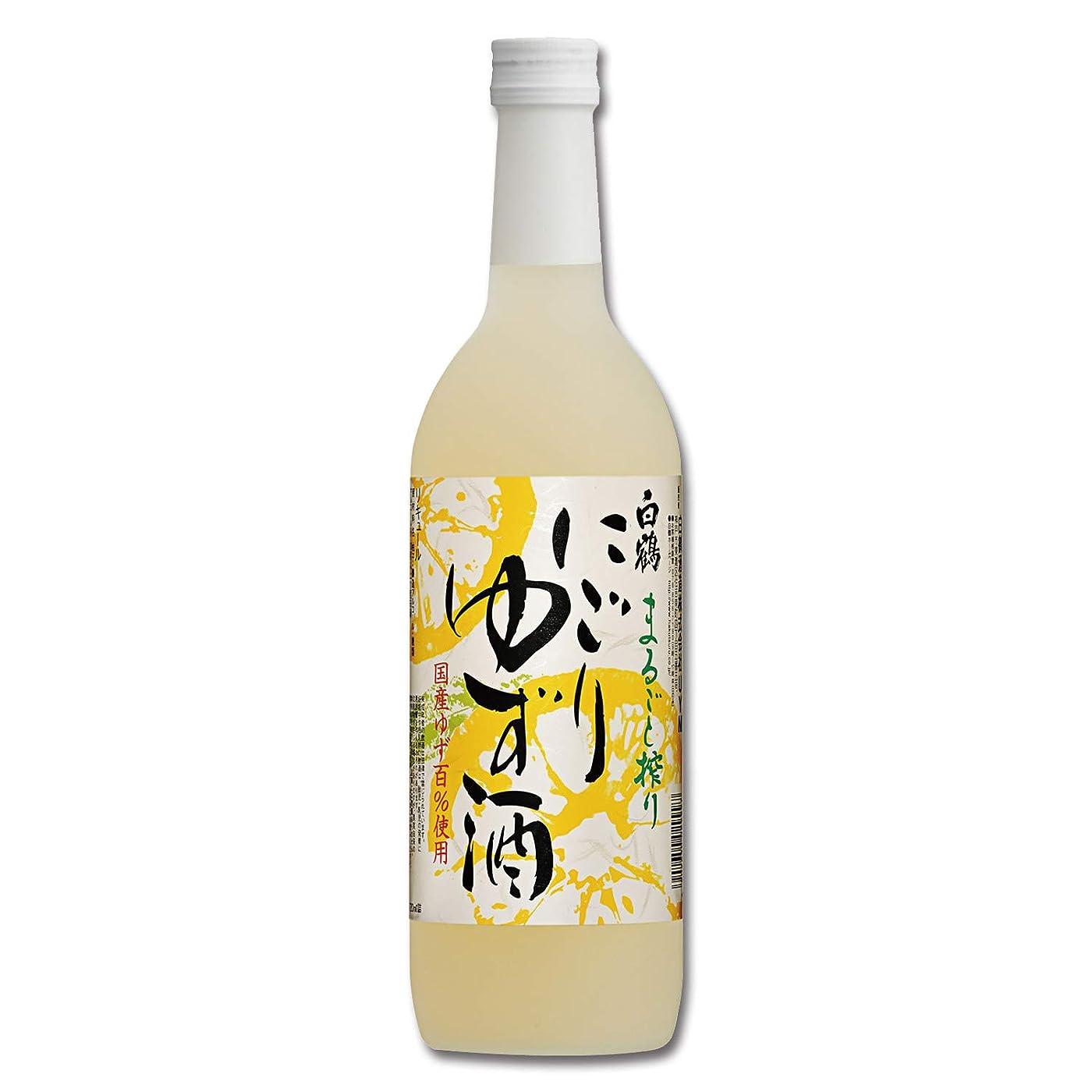 少し承認腰白鶴 まるごと搾り にごりゆず酒 [ リキュール 720ml ]