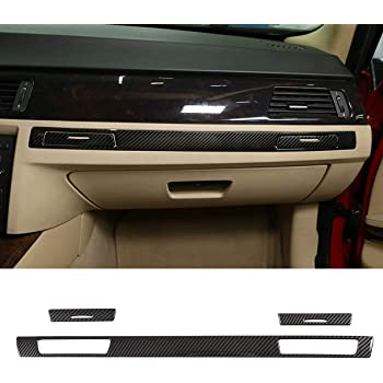 TongSheng Carbon Fiber for BMW 3 Series E90 E92 E93 2005-2012 LHD Car Center Console Gear Shift Panel Stickers Trim Accessories