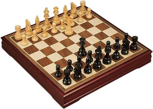 precios ultra bajos Ajedrez Tablero de ajedrez de madera internacional Pieza Pieza Pieza de ajedrez de madera creativa Niños Desarrollo intelectual Aprender Juguetes Almacenamiento Damas Ajedrez Tablero de Ajedrez ( Color   C )  ventas en linea