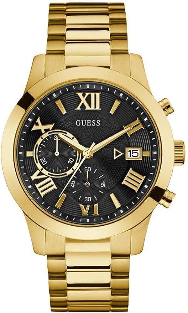 Guess orologio,cronografo per uomo,in acciaio inossidabile lucido e satinato W0668G8