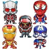 10pcs Globos de Papel de Fiesta de cumpleaños de superhéroe Spiderman,se Aplica a Fiestas de cumpleaños de niños, Decoraciones de Mesa, Birthday Party Supplies