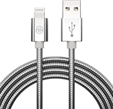 [2020 New Ver. Apple MFi Certified C89 Connector] USB to Lightning Cable, SYNLOGIC Premium Metal Braided iPhone Chargers Apple Cord for iPhone 11 Xs,XS Max,XR,X,8,8 Plus,iPad Mini. 3.3Ft, Silver