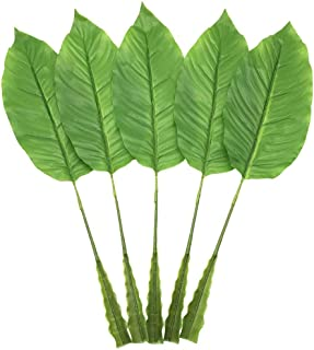 PinnacleT1 Large Artificial Tropical Leaf - Artificial Bird of Paradise Leaves for floral Arrangement,Fake Artificial leaf for Home Kitchen Party Decorations