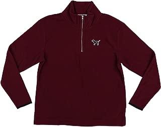 Pink Sweatshirt Quarter Zip Fleece