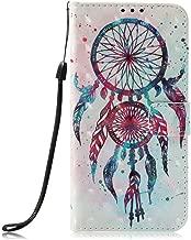 Galaxy J7 Aero Case,J7 2018/J7 Aura/J7 Crown/J7 Top/J7 Refine/J7 Eon/J7 Star Case,JanCalm [Kickstand][Card/Cash Slots][Wrist Strap][3D Painted Dream Catcher Pattern] PU Leather Flip Case + Crystal Pen