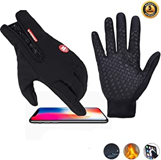 Touchscreen Sports Gloves Winter Warm Gloves for Women Men, Knit Windproof Anti-Slip Thermal Work Gloves Soft Lining Elastic Cuff Texting Gloves for Running, Cycling, Driving in Cold Weather