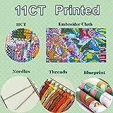 treseds Cruz Kits determinados Colores Globos de Bricolaje Artesanal de la Costura de la Puntada for el Bordado Decoración Cross Paisaje Stitch Patrones Gratis Costura