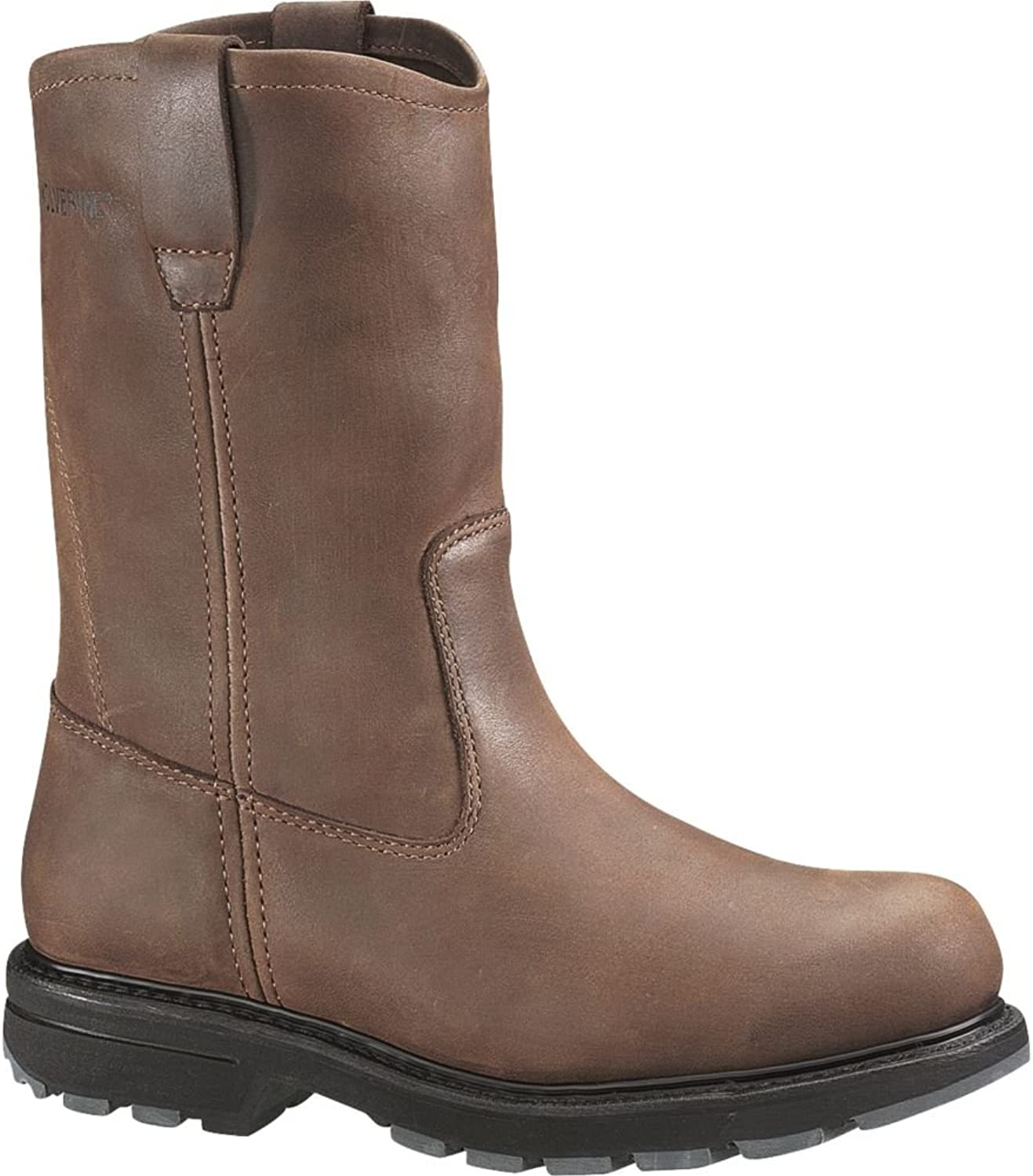 Wolverine Men's Nubuck Wellington Pull-On Work Boot Steel Toe Brown US