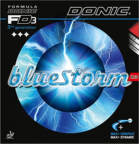 Donic BLUESTORM Z3, 2.1 mm Red and Black, Table Tennis Rubbers (2 Pieces)