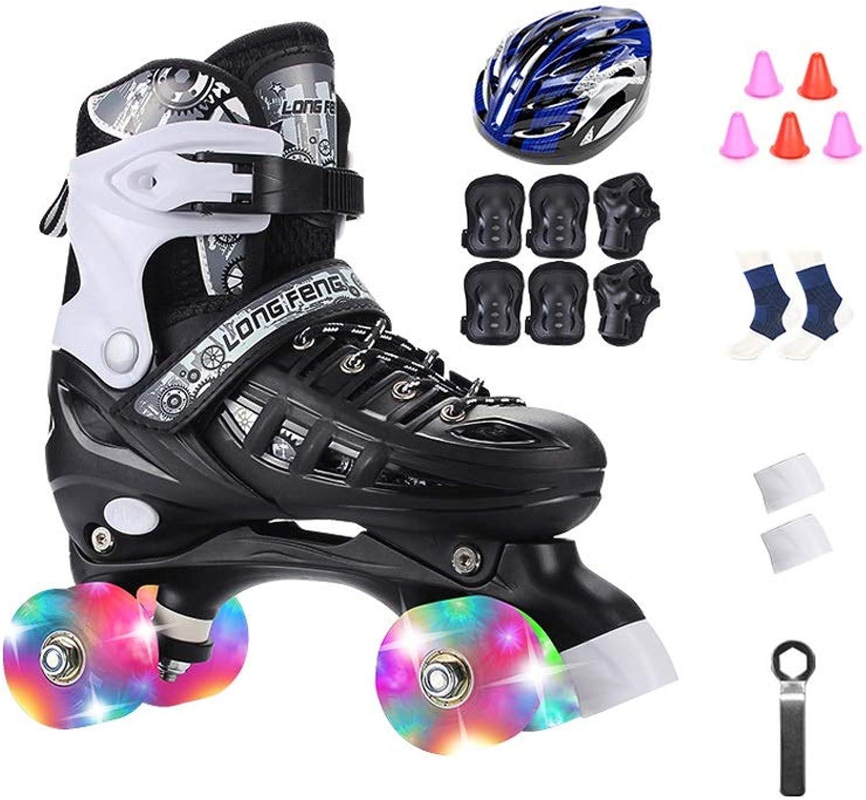 Ailj Roller Schuhe, Rollschuhe Erwachsene Zweireihige Schlittschuhe Unisex Einstellbare Rollschuhe Vollständiger Satz Vollblitz (3 Farben) B07P9VWK36  Kaufen