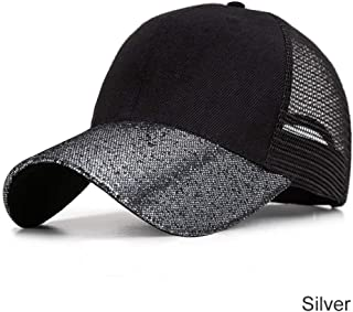MKJNBH Fashion Design Patchwork Glitter Baseball Caps Women Breathable Outdoor Men's Hat Summer