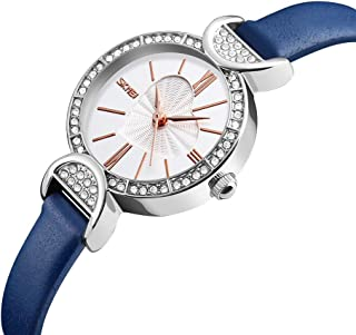 SKMEI 3ATM Water-resistant Dress Watch Women Quartz Watches Genuine Leather Wristwatch Female Relogio Feminino