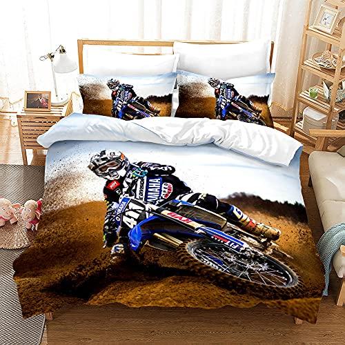 Bedclothes-Blanket Juego de sabanas Cama 90 Juveniles,SANDET Ropa de Cama de Motocicleta de la impresión de Tres Piezas-Seducir_180 * 210