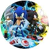 Tortenaufleger Tortenfoto Aufleger Foto Bild Sonic rund ca. 20 cm (3) *NEU*OVP*