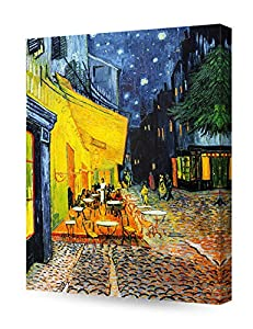 DECORARTS - Cafe Terrace at Night, Vincent Van Gogh Art Reproduction. Giclee Canvas Prints Wall Art for Home Decor 20x16 by Decor Arts International Corp