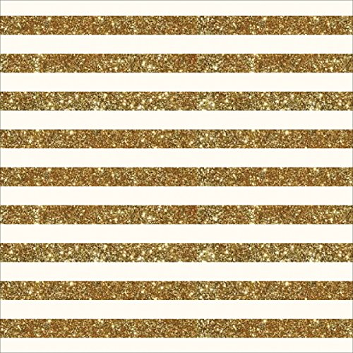 """American Crafts Homemade Specialty Cardstock, 12"""" by 12"""", Cream with Glitter Stripe"""