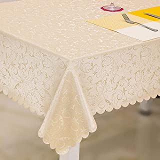 Stain Dust Proof Decorative Table Cloths Thickened Floral Pu Table Cloth Dust Proof Washable Kitchen Table Cover Deep