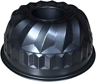 9 inch Bundt Cake Pan, Heavy Duty Fluted Tube Pan, Non-stick Carbon Steel Baking Pan -Gray