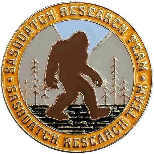 lowest Sasquatch 2021 Research Team new arrival Enamel Lapel Pin for Bigfoot Fans outlet online sale