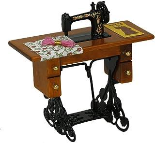 DIVISTAR TM - M/áquina de Coser para Muebles Miniatura Vintage de casa de mu/ñecas de Juguetes para ni/ños 1:12