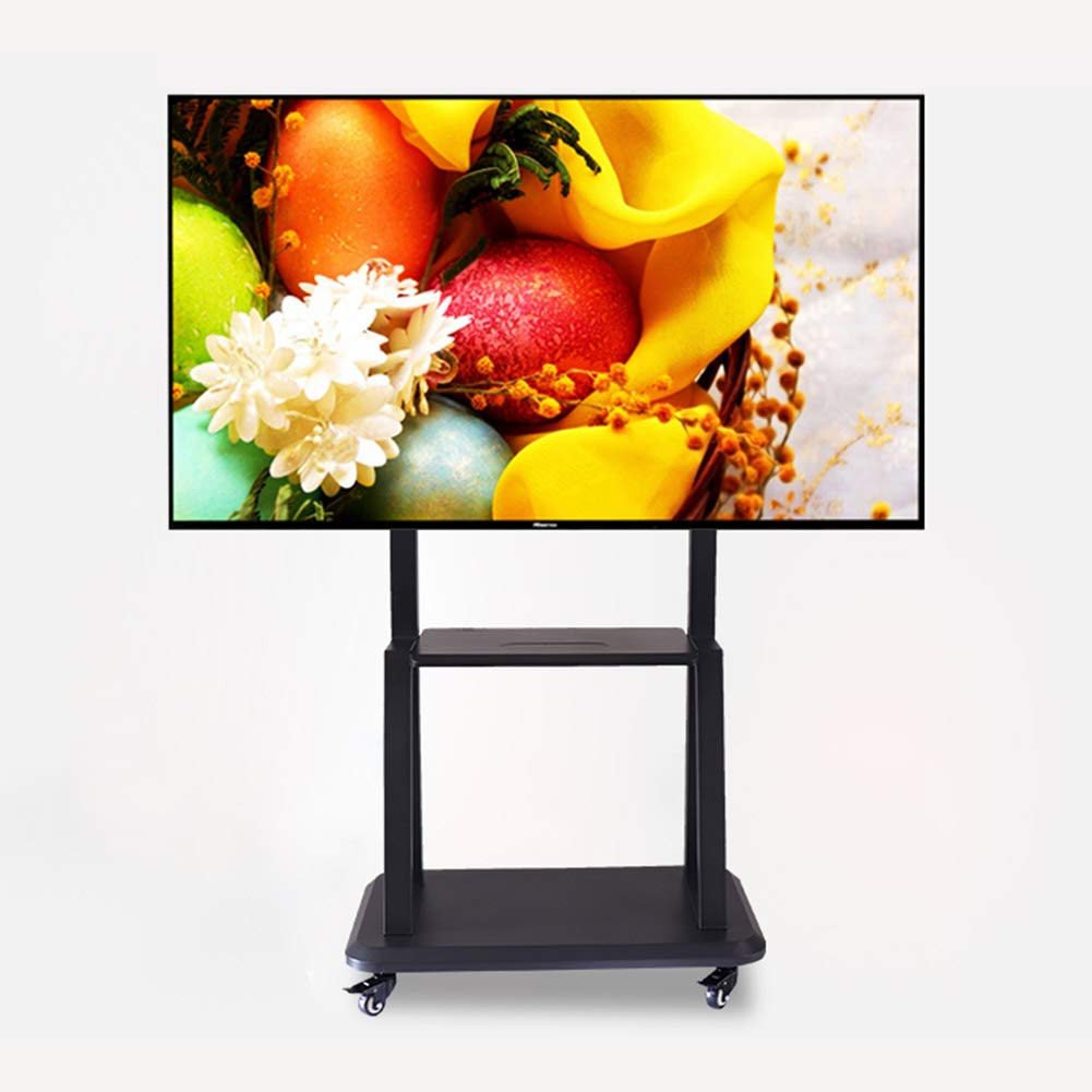 XUE Rolling TV Stand móvil Universal TV Cart, Base con Altura Ajustable Pantalla Plana TV Montaje se Adapta 40 a 80 Pulgadas LED LCD televisores Dormitorio Sala de Estar: Amazon.es: Hogar