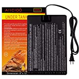 Aiicioo Under Tank Heater Pet Heating Pad Ideal for Tropical and Temperature Reptiles Hermit Crab Bearded Dragon Lizard Ball Python Terrarium Warmer 16 Watt