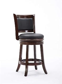 Boraam Augusta Counter Height Swivel Stool, 24-Inch, Cappuccino