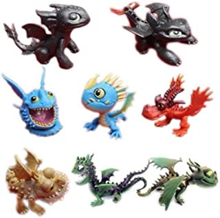How To Train Your Dragon Playset 8 pcs Action Figure 2.5 Inches