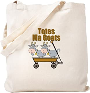 CafePress Totes Ma Goats Natural Canvas Tote Bag, Reusable Shopping Bag