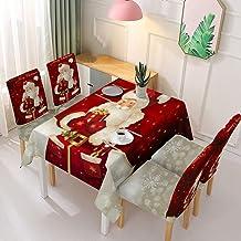 Kerst Rechthoekig Tafelkleed - Kerst Wasbare Tafel Cover Elastische Stoel Cover Mode Kerst Patroon Afdrukken Rechthoekig F...