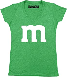 Promotion & Beyond M Halloween Team Costume Funny Party Women's V-Neck