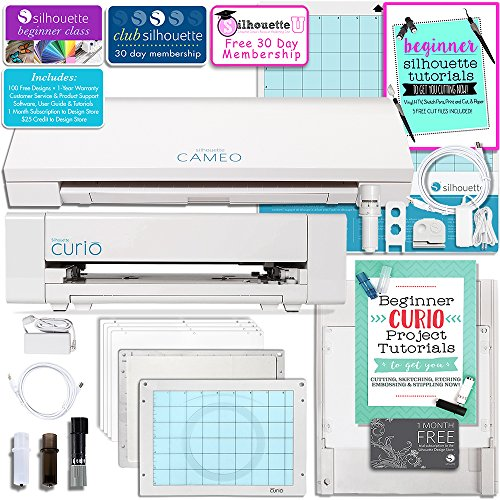 Silhouette Cameo 3 Bluetooth Machine and Curio Machine...