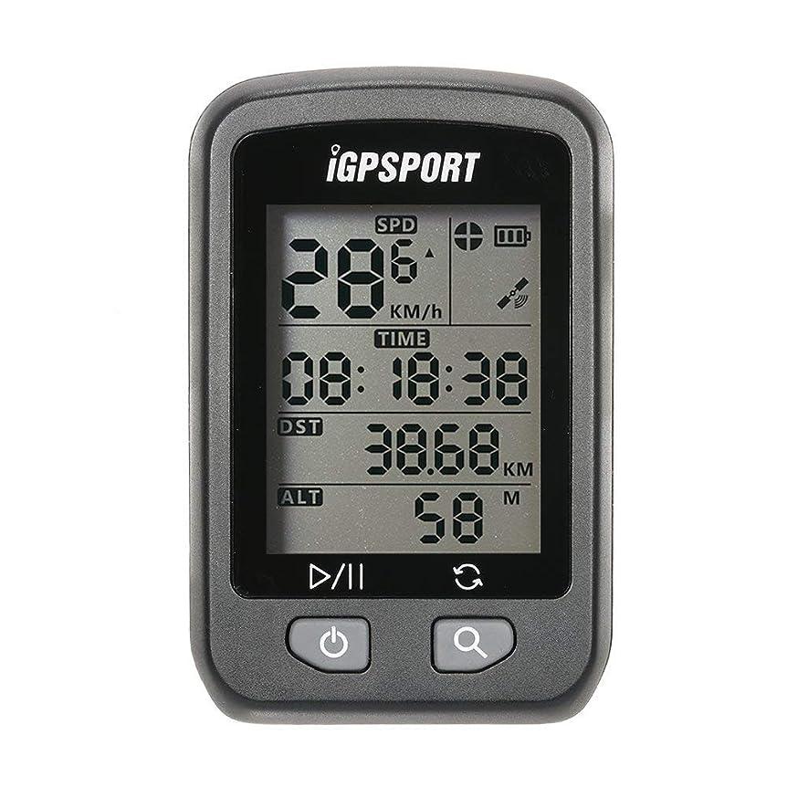 ハックありそうあごLixada iGPSPORT 充電式 IPX6防水 自動バックライト画面 自転車のGPSコンピュータの走行距離計 マウント付き