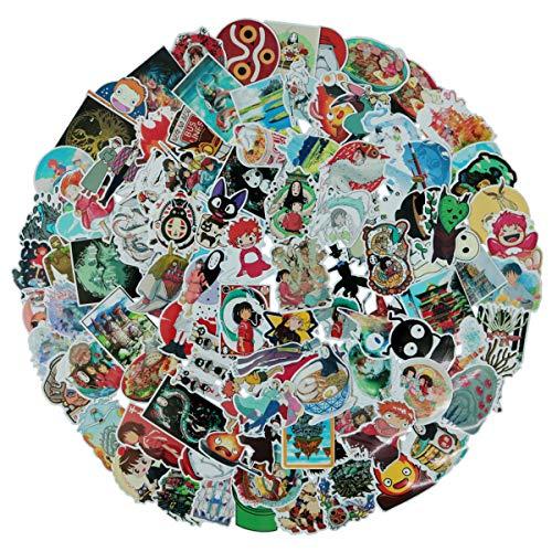 100Pack Miyazaki Hayao Animation Film Theme Stickers Set Studio Ghibli Sticker Decals for Water Bottle Laptop Cellphone Bicycle Motorcycle Car Bumper Luggage Travel Case. Etc (Miyazaki Hayao)