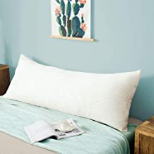 """Metron -Total Body Pillow with Adjustable Shredded Memory Foam - Perfect for Cuddling, Snuggling and Maternity – Full Size-20""""x54""""- Bamboo Derived Viscose Rayon & Polyester Blend Washable Cover"""