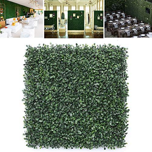 FOReverweihuajz 1 Unid Respetuoso del Medio Ambiente Plástico Artificial Hoja Hierba Valla Evergreen Pantalla Paneles De Cobertura Planta Emulada Decoración De La Pared 50x50 Cm