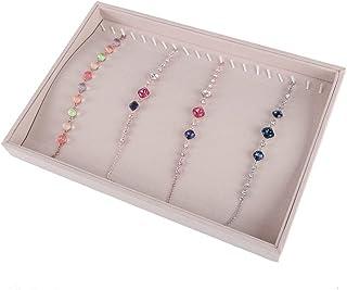 Contenitore di gioielli Supporto di gioielli per orecchini 2 Strato per donne Ragazze Scomparti per adolescenti diversificati Specchio Vetrina per orologi Collane Anelli Orecchini Gioielli Orologi