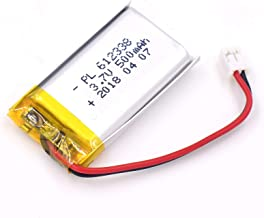 YDL 3.7V 500mAh 612338 Lipo battery Rechargeable Lithium Polymer ion Battery Pack with JST Connector