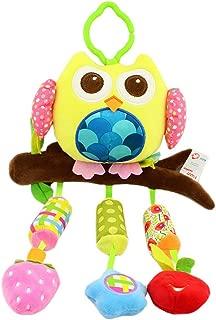 Ncbvixsw 2019 New Funny LED Light 3D Cartoon Owl Keyring Sound Hooting Key Chain Key Gift Kid Toys