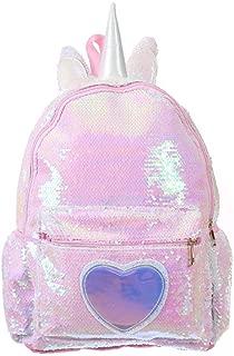 Sequins Unicorn School Bags for Girls Backpack Cute Kids School Bag Large Capacity Children Backpacks Sac Enfant Zhaozb (Color : Pink)