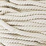 Natural Twisted Cotton Rope - Soft But Strong - Assorted Colors - 1/2 Inch Diameter (Rice Red, 10 Feet)