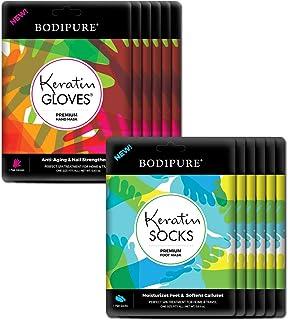 BODIPURE Premium Keratin Hand Mask & Foot Mask – Anti-aging Moisturizing Gloves & Socks for Dry Hands & Cracked Heels - Na...