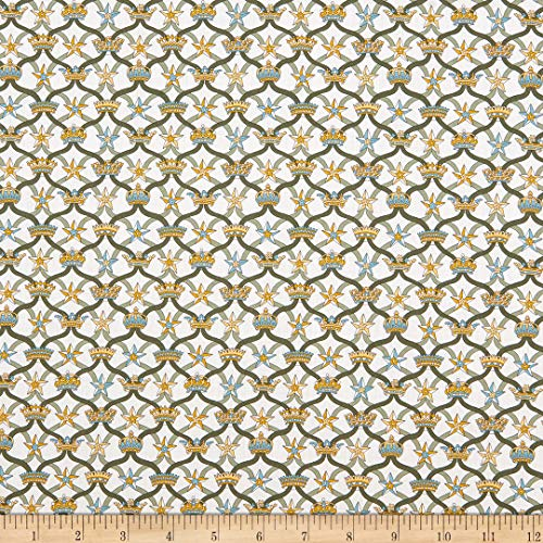 Liberty Fabrics 0741175 Tana Lawn Windsor Ribbon Stoff, baumwolle, grün/gelb, By The...