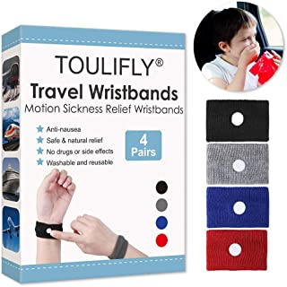 Travel Wristbands,Travel Motion Sickness Relief Wrist Band,Natural Nausea Relief, 4-Pair
