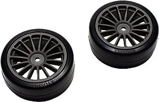 Drift tire (adhesive already / Gun Metal / 2pcs) (FAZER Ve-X) FAT302GM by Kyosho