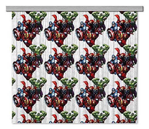 AG Design Marvel Avengers, Gardine/Vorhang, 180x160 cm (2 Teile:90x160 cm), Stoff, Multicolor, 0,1 x 180 x 160 cm