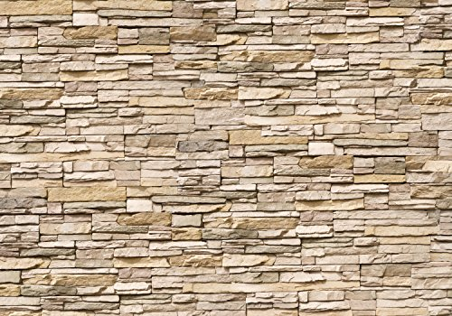 wandmotiv24 Fototapete Asia Stone Natur Größe: 400 x 280 cm Wandbild - Motivtapete Naturstein Asien Steinmauer stein KT239