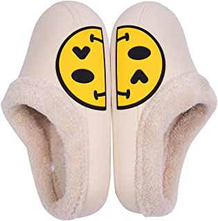 Sponsored Ad - HappySunday Womens Winter House Slippers Comfy Warm Fluffy Plush Micro Suede Memory Foam Indoor Outdoor Non...