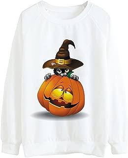 iLOOSKR Halloween Pumpkin Printing Shirt Women Fashion Sexy Shirt Long Sleeve Blouse Tops