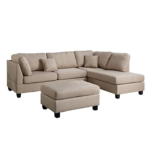 Outstanding Beige Sectional Sofa Amazon Com Pabps2019 Chair Design Images Pabps2019Com